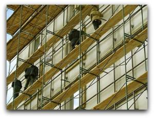 Rent of outrigger scaffolds, towers, timberings