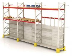 Development of the warehouse equipment, racks for
