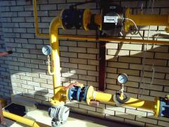 Монтаж приборов учета газа