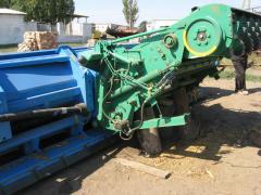 Repair of a podbarabanye on combines