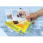 Distribution of advertizing materials, booklets,