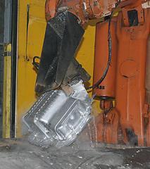 Molding under pressure of aluminum