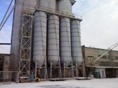 Услуги по хранению и складированию цемента, ...