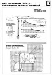 Rent of a self-folding tower crane Pekazett 4112