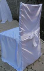 Белые чехлы на стулья Донецк