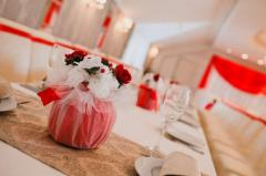 Букеты на столы гостей