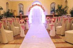 Белая дорожка на выездную церемонию бракосочетания