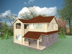 Design construction works of wooden houses of MAF
