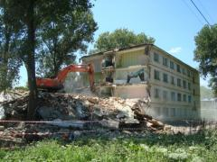 Dismantle of old and shabby buildings across