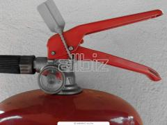 Check of fire extinguishers, repair