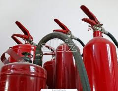 Write-off, check of fire extinguishers