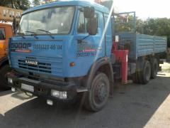 Услуги манипулятора (аренда) Автомобиль бортовой КАМАЗ с манипулятором