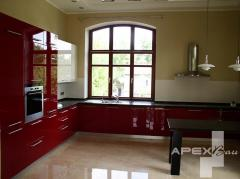 Design of kitchen, selection of furniture