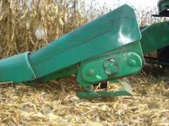 Установка режуще-измельчающих аппаратов на кукурузные жатки Джон Дир, Кейс