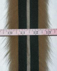 Edges from fur of a polar fox, tailoring of