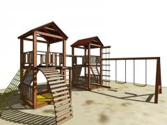 Construction of children's sports playgrounds