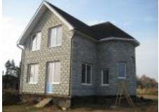 Construction of country houses from thermoblocks