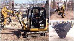 Rent of the Caterpillar 301.7D mini-excavator