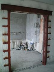 Металлоусиление проёмов в несущих стенах