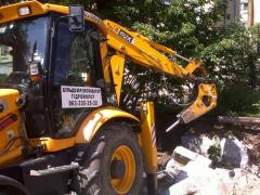 Rent of a hydrohammer of JCB 3CX