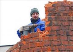 Демонтаж ж/бетонных и других сооружений