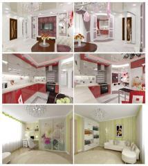 Дизайн интерьера квартиры, дома, офиса, др. помещений