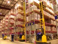Storage and warehouse processing of freights,