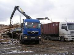 We provide services in processing of wood in spill