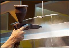 Powder painting of hardware