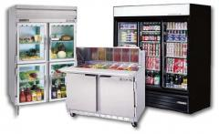 Refrigerating appliances for shops