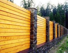 Construction, installation of fences and protections on a site