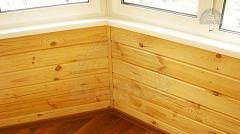 Covering of walls wooden panels