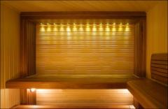 Finishing of a sauna, bath lining