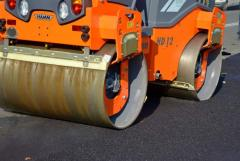 Asphalting of roads