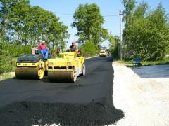 Asphalting of roads, parkings, sidewalks,