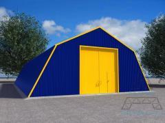 Construction of metal hangars