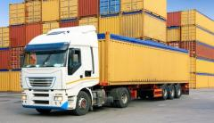 Services in transportation of container loads