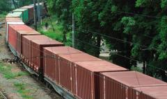 Services of rail transportation of container loads