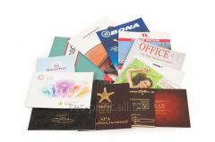The printing of brochures in Odessa