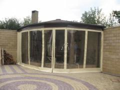 Production of transparent curtains from