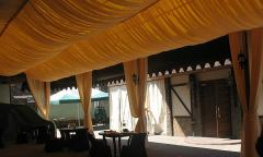Production and installation of ceiling from fabric