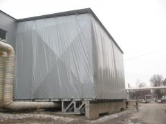 Production and mounting of a tent hangar