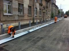 Installation of the Road protection