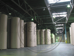 Production of a corrugated cardboard of sheet