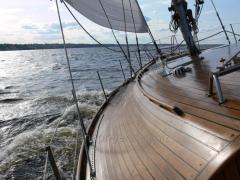 Отдых на природе Киев прогулка на яхте по Днепру