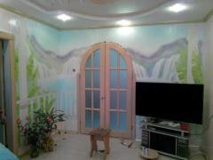 Аэрография, фрески, художественная роспись стен. Создание неповторимых образов на стенах Вашего дома.