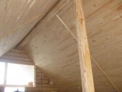 Работы по укладке деревянной вагонки