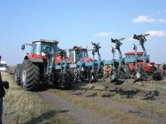 Processing of the soil plowed land oranka reverse
