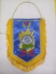 Production of pennants (embroidery); Production of