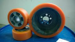 Recovery of polyurethane covering of wheels of